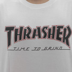 Camiseta Thrasher X Independent Time to Grind White - comprar online