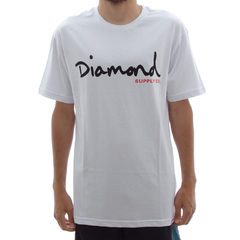 Camiseta Diamond OG Script In Black/Red