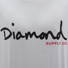 Camiseta Diamond OG Script In Black/Red - comprar online