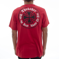 Camiseta Thrasher X Independent Oath Red na internet