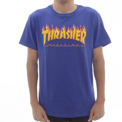 Camiseta Thrasher Flame Royal Blue