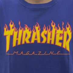 Camiseta Thrasher Flame Royal Blue - comprar online