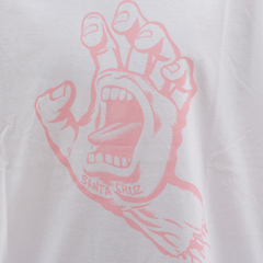Camiseta Santa Cruz Screaming Hand Branco - comprar online