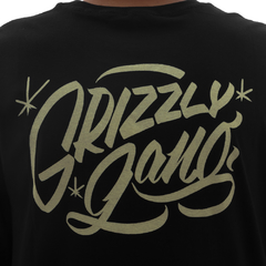 Camiseta Grizzly Sinage Black - Ratus Skate Shop