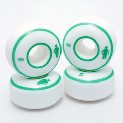 Roda Girl Staple White/Green 55mm - comprar online