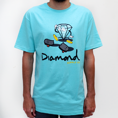 Camiseta Diamond SK8 Life Blue
