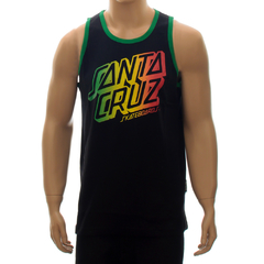 Camiseta Santa Cruz Regata Rasta Stack Black