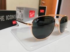 Óculos Ray Ban Marshal Dourado Preto na internet