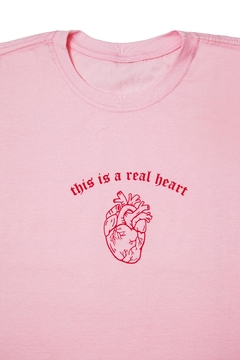 Camiseta Rosa Real Heart na internet