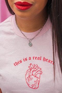 Camiseta Rosa Real Heart - MSA Haus