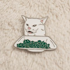 Pin / Broche Table Cat Meme