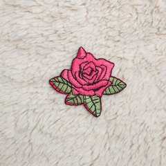 Patch Bordado Rosa