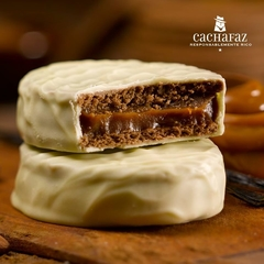 ALFAJOR CHOCOLATE BLANCO RELLENO DDL - CACHAFAZ