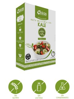 PASTA MULTICEREAL CON KALE - WAKAS