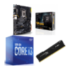 Combo Intel i3 10100 + Asus TUF Gaming Z490 Plus (WI-FI) + Hyperx Fury 8GB 2666MHz