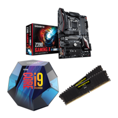 Combo Intel i9 9900K + Gigabyte Z390 Gaming X + Corsair LPX 16GB 3200MHz
