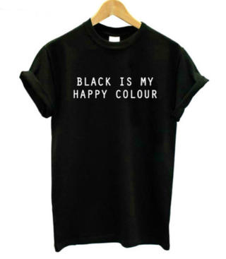Camiseta Black Is My Happy color