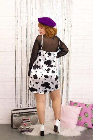 Vestido Slip Dress Fashion Cow