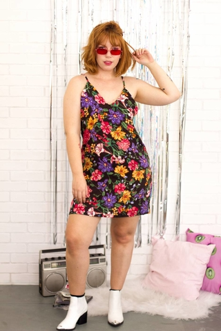 Vestido Slip Dress Party Flowers