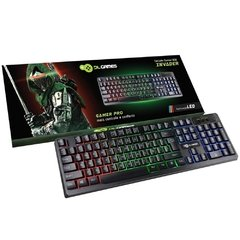 TECLADO SEMI MECANICO DL GAMES INVADER, LED, ABNT2
