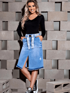 Saia jeans Kelly