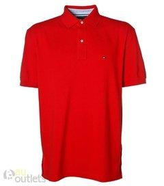 Camisa polo masculina Tommy Hilfiger Red Solid
