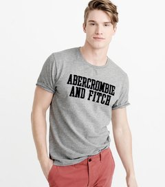 Camiseta masculina Abercrombie & Fitch Defer GRY - comprar online