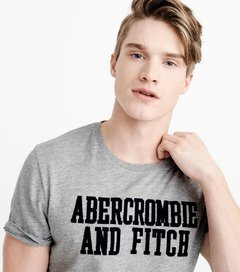 Camiseta masculina Abercrombie & Fitch Defer GRY na internet