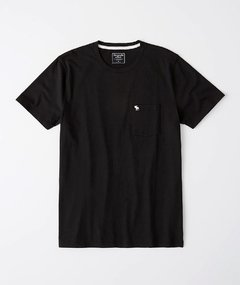 Camiseta masculina Abercrombie & Fitch Basic-Pocket BLK na internet