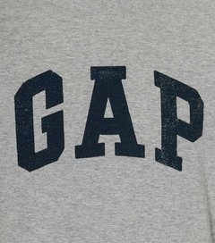 Camiseta masculina Gap Fun Gray na internet