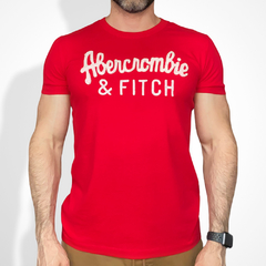 Camiseta masculina Abercrombie & Fitch Lacrosse RED