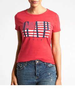 Camiseta feminina Gap Americana Red