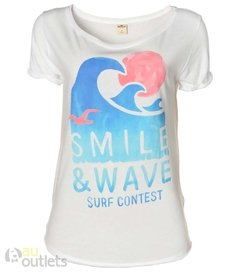 Camiseta feminina Hollister Smile & Wave