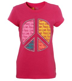 Camiseta infantil feminina Children's Place Peace and Love
