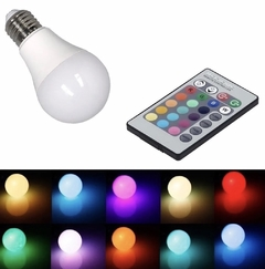 Lámpara led multicolor a control remoto