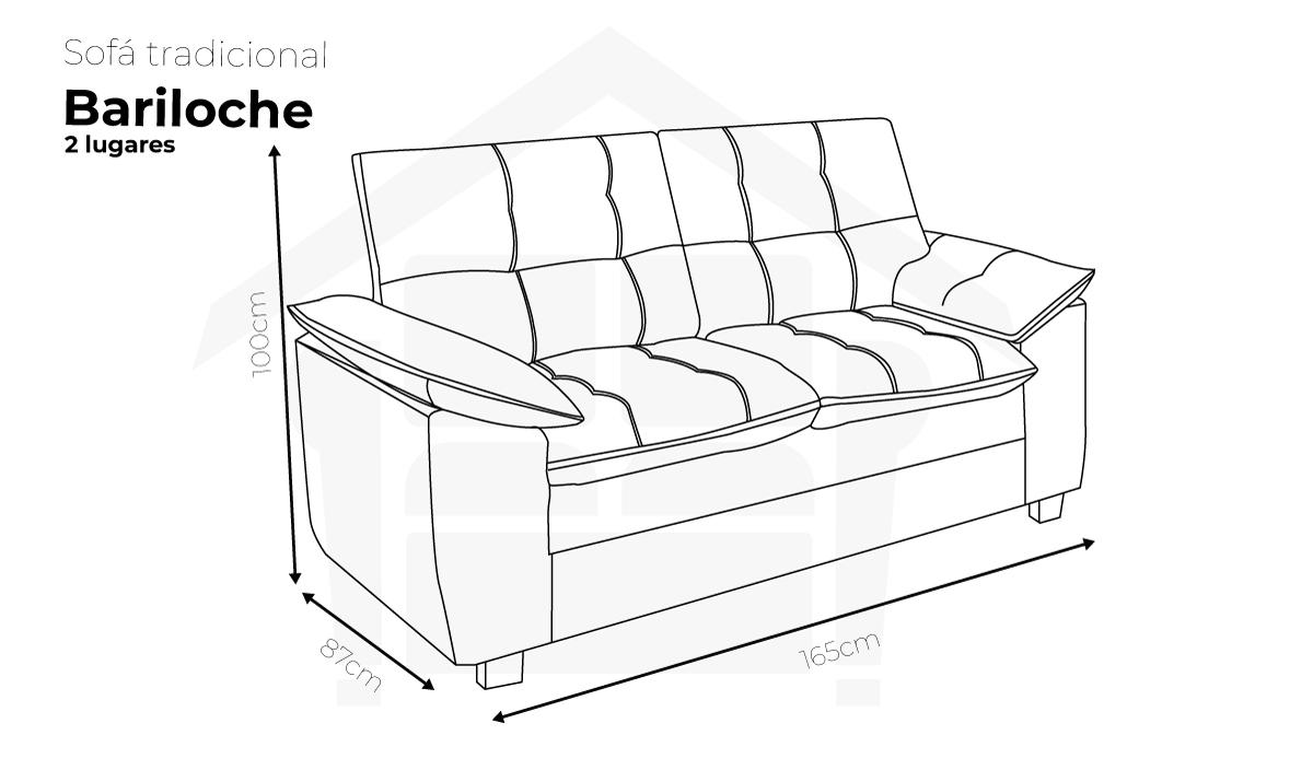 Sofa Reto Bariloche 2 Lugares
