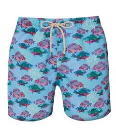 Shorts Especial Regular Peixes Ciano