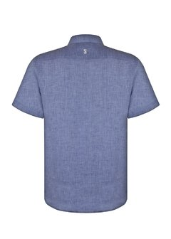 Jeans Short Sleeve Linen Shirt - buy online