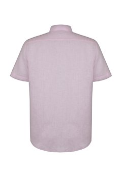 Pink Short Sleeve Linen Shirt - buy online