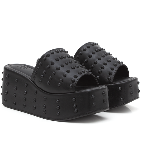 Tamanco Spiked Black