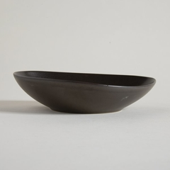 BOWL BAJO IRREGULAR CERAMICA COLOR  DARK  BROWN