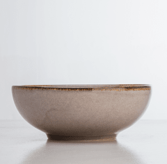 BOWL 17 CM   MODELO SCAND GREY CON BORDE BEIGE