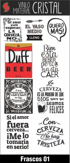 Stickers Frascos y Botellas - Sandia