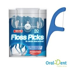 Fio Dental PowerDent Floss Picks Adulto 50 und - comprar online