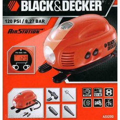 Inflador Compresor 12v Digital Asi200 Black And Decker - comprar online