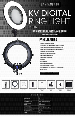 Kv Digital Ring Light (RL-002) - comprar online