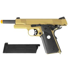 PISTOLA DE AIRSOFT À GÁS GBB GREEN GÁS R27 1911 M.E.U. BLACK/TAN FULL METAL BLOWBACK 6MM - ARMY na internet