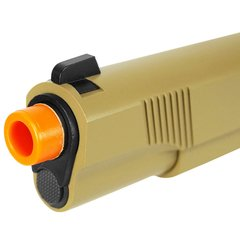 Imagem do PISTOLA DE AIRSOFT À GÁS GBB GREEN GÁS R27 1911 M.E.U. BLACK/TAN FULL METAL BLOWBACK 6MM - ARMY