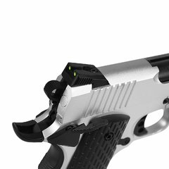 PISTOLA DE AIRSOFT À GÁS GBB GREEN GÁS R28 M1911 WARRIOR SILVER BLOWBACK 6MM - ARMY - comprar online