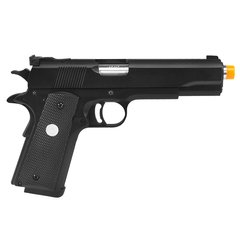PISTOLA DE AIRSOFT À GÁS GBB GREEN GAS 1911 MKIV 70 BLACK FULL METAL BLOWBACK 6MM - ARMY - comprar online